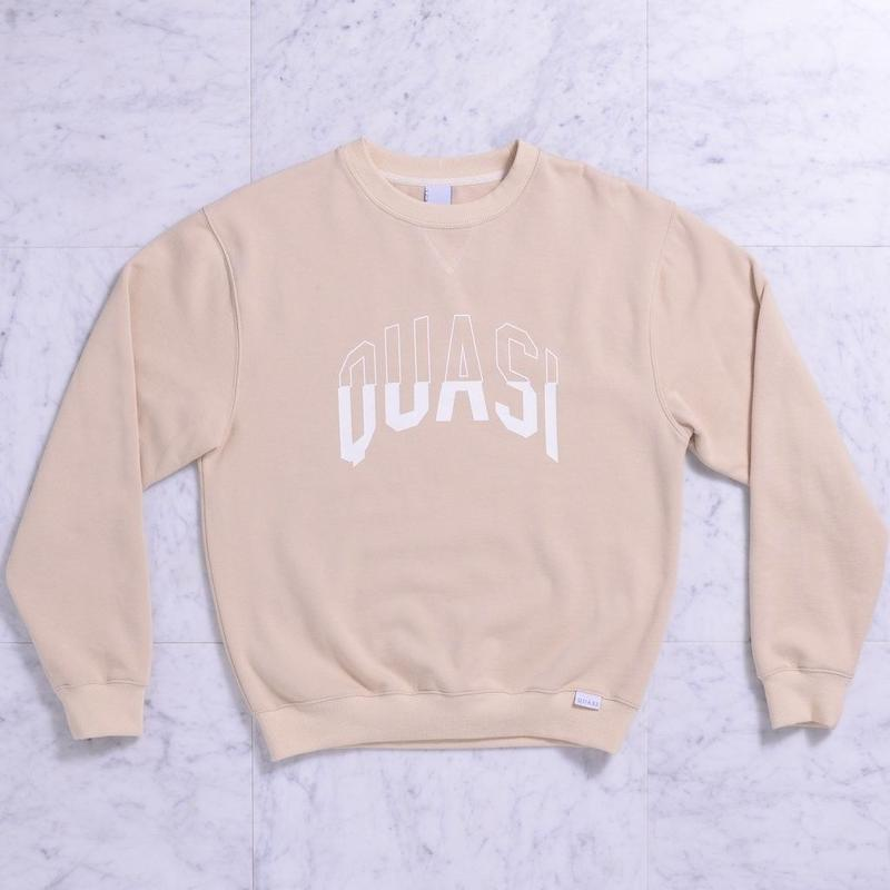 QUASI Arc Crew Sweat [Oatmeal]