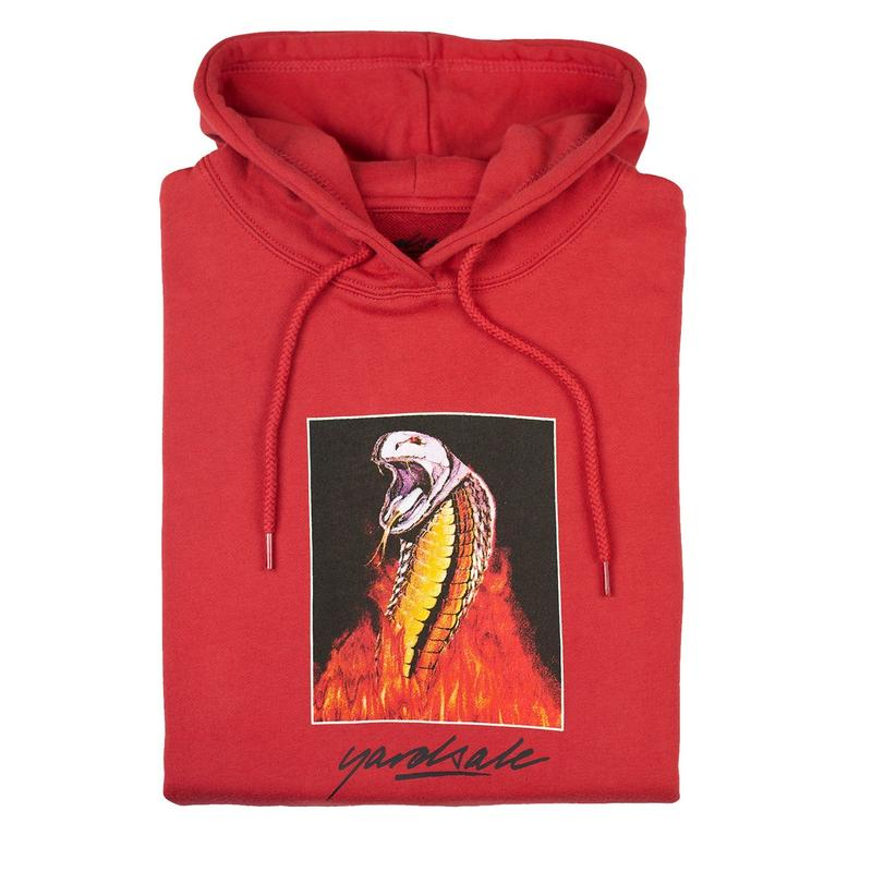 YARDSALE Chrome Snake Hood Cardinal