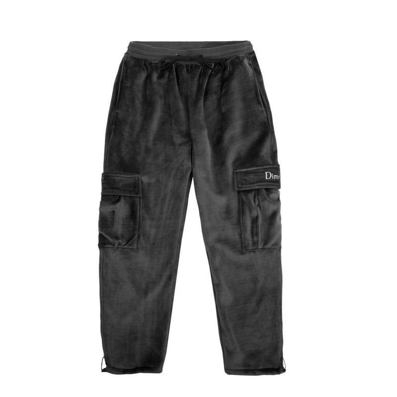 DIME VELOUR CARGO PANTS Grey