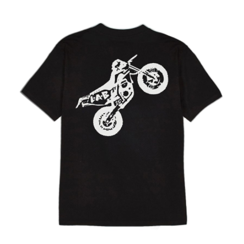 LIFE'S A BEACH LAB Dirt Bike Tee Black