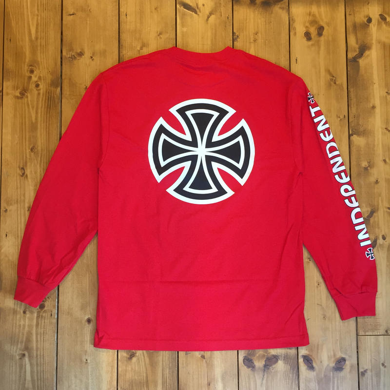 Independent truck Co. Bar/Cross L/S T-Shirt -  red