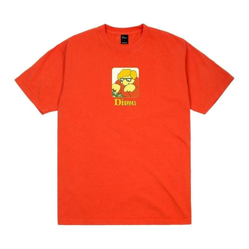 DIME TYPO T-SHIRT  Bright Orange