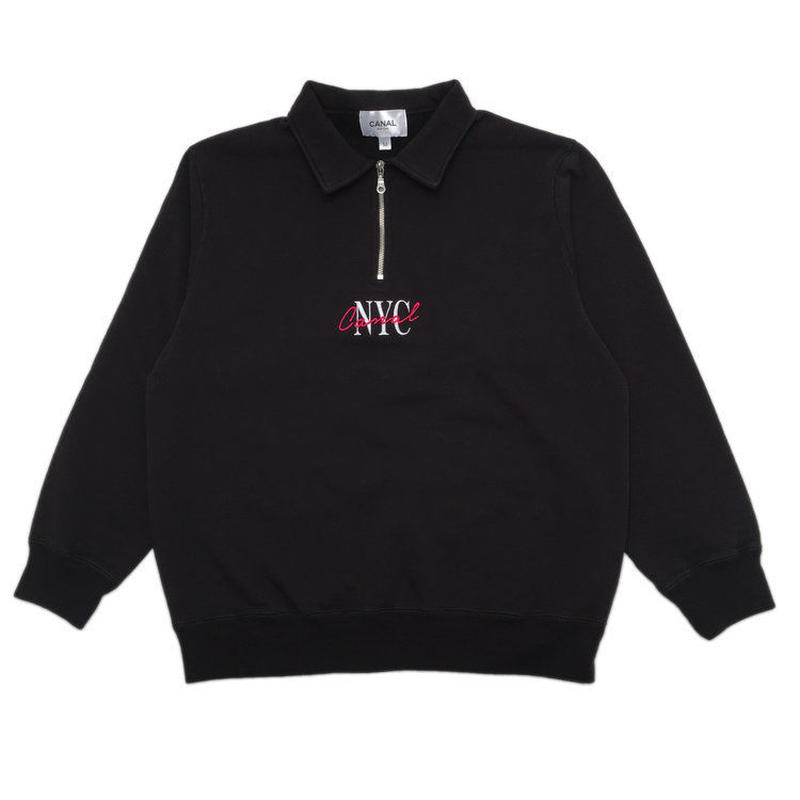 "CANAL ""LIPSTICK"" QUARTER-ZIP - BLACK"