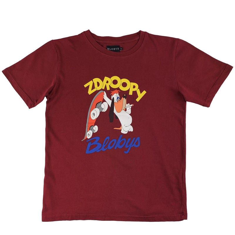 Blobys Zdroopy T Shirt  Bordeaux