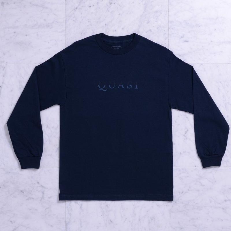 QUASI Wordmark L/S Tee[Navy]
