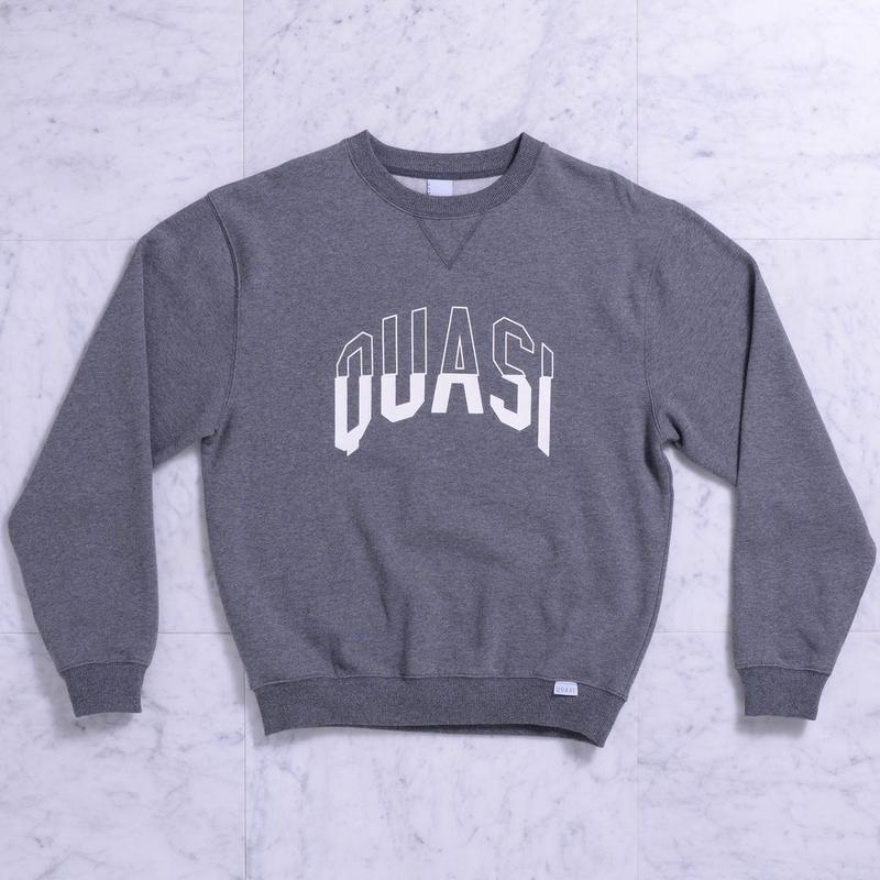 QUASI Arc Crew Sweat [Charcoal Heather]