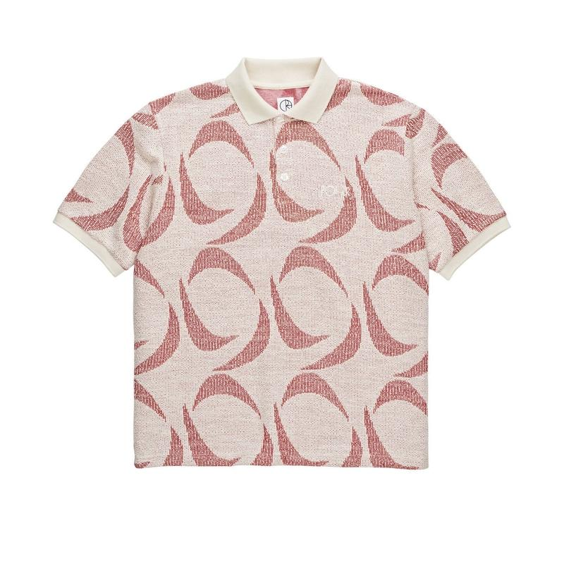 POLAR SKATE CO. PAINTED POLO SHIRT RED