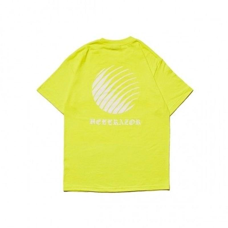 Hellrazor Ol'English Logo Shirt - Safety Green