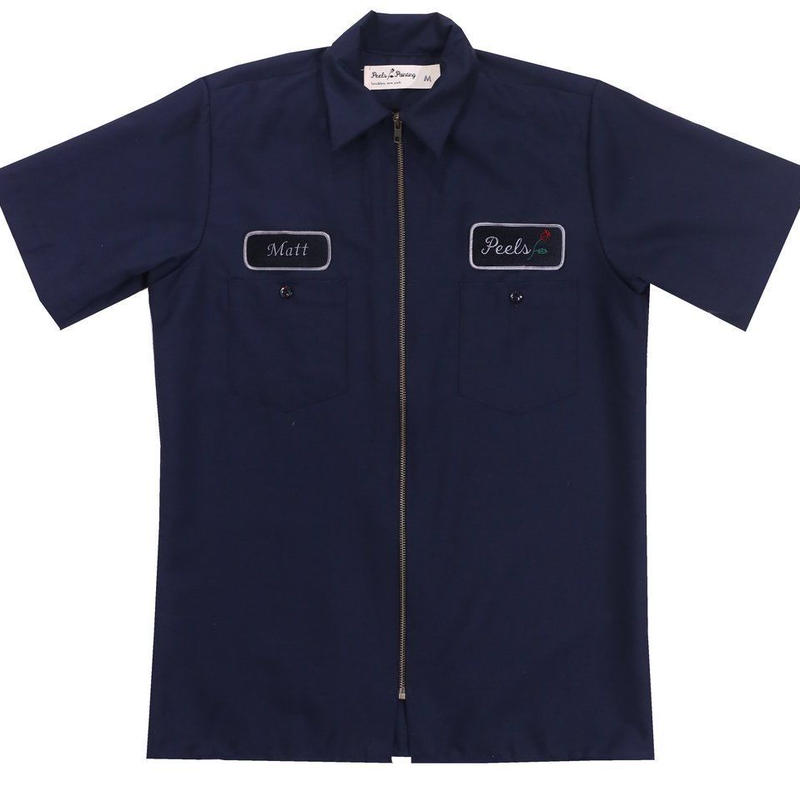 Peels NYC Peels Full-Zip Work Shirt Navy