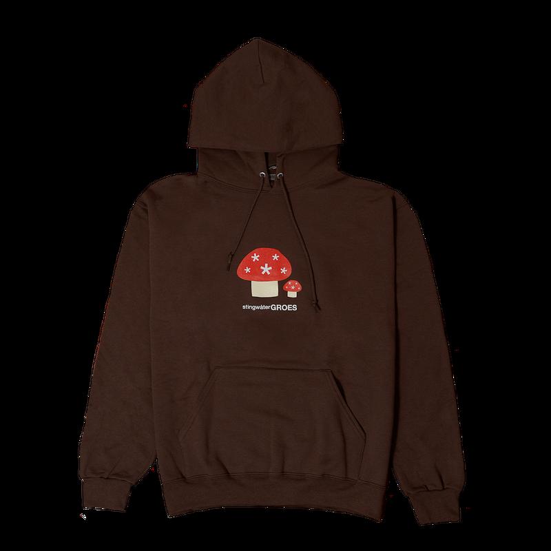 STINGWATER Stingwater Groes hoodie chocolate