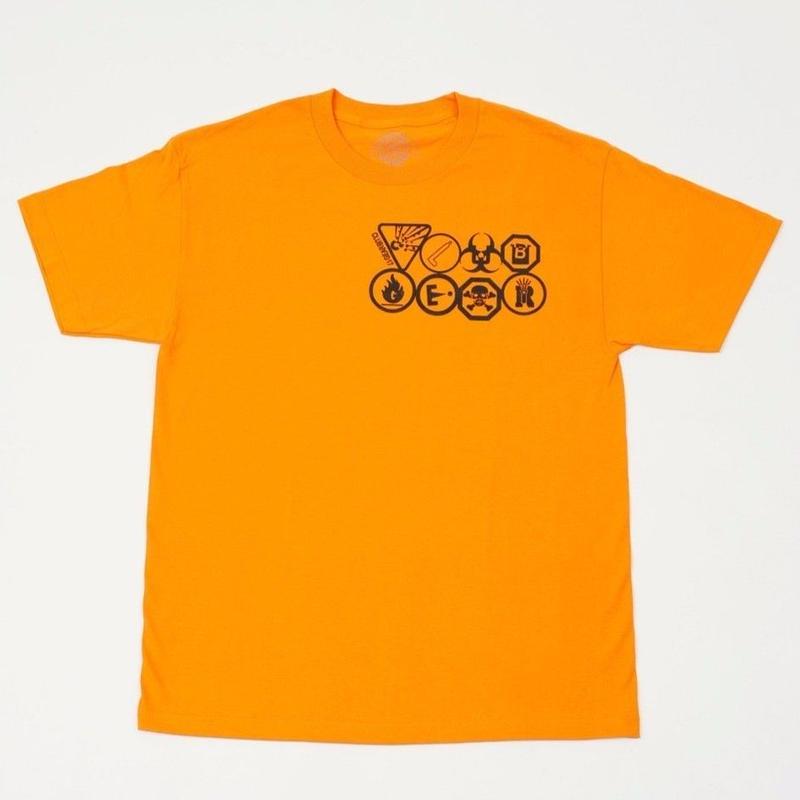 CLUBGEAR Hazard T-Shirt - Orange/ Black