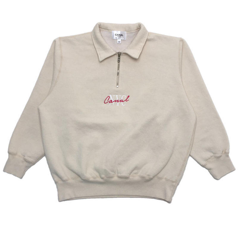 "CANAL ""LIPSTICK"" QUARTER-ZIP - OFF-WHITE"