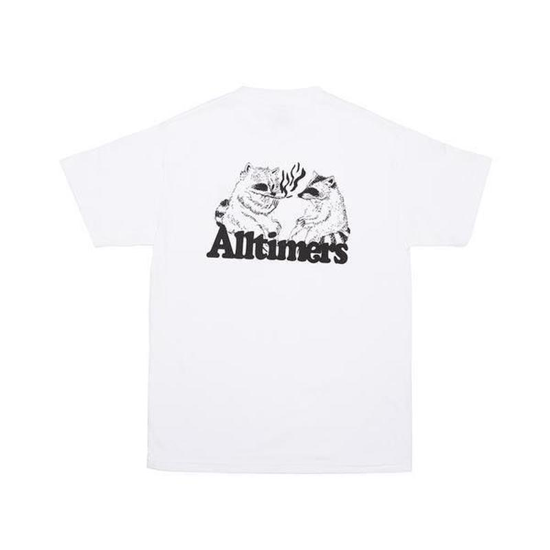 ALLTIMERS RACOONS SMOKING POT TEE WHITE