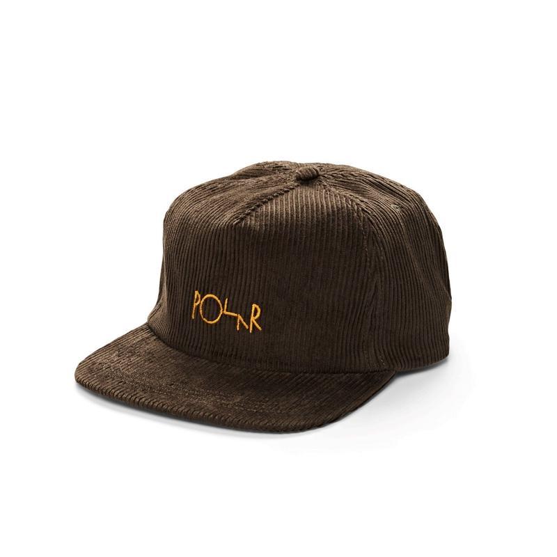 POLAR SKATE CO. CORD 5PANEL CAPS BROWN