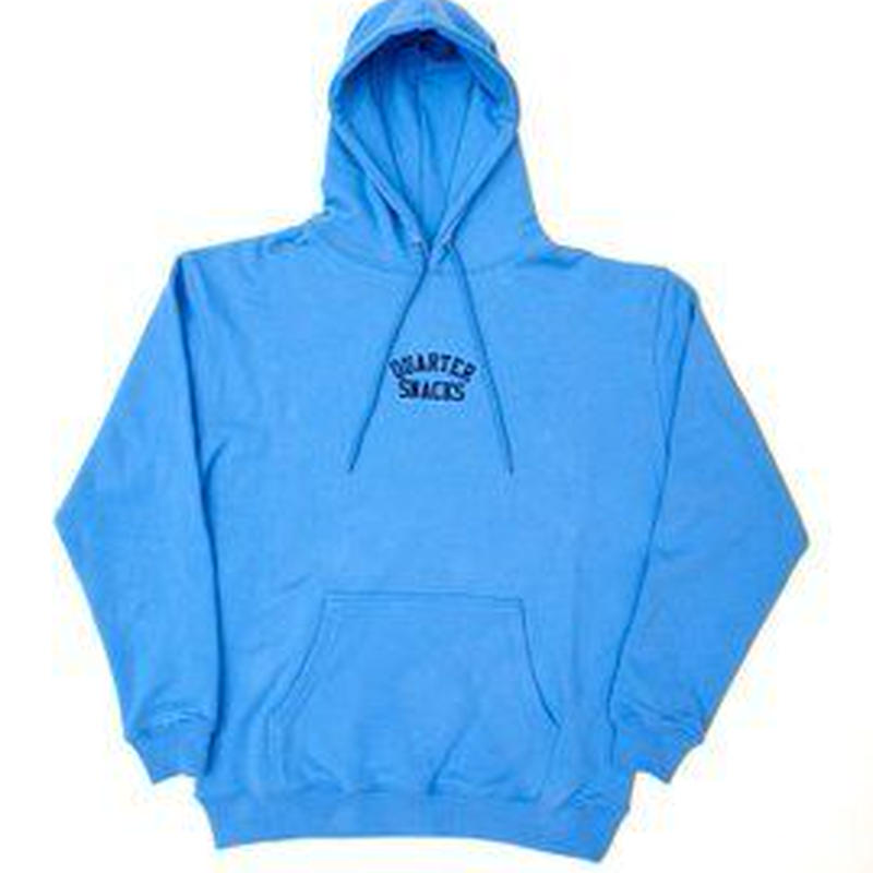 QUARTER SNACKS Embroidered Arch Hoody — Baby Blue