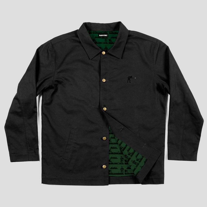 "PASS~PORT ""POOL WORKERS"" JACKET BLACK"