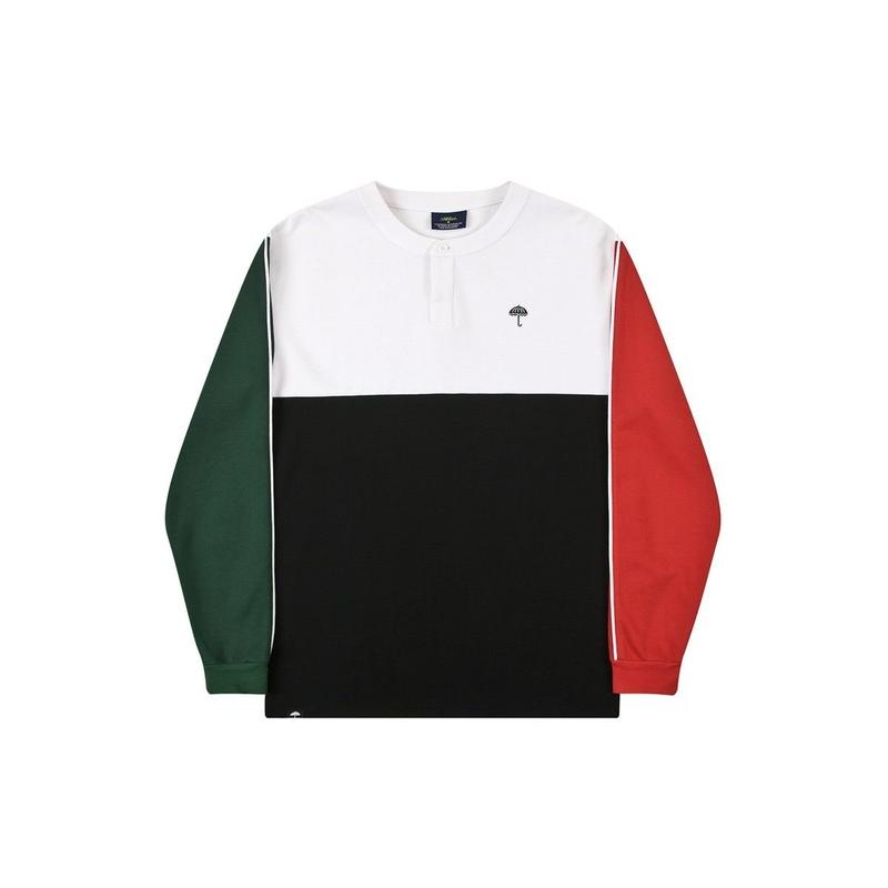 HELAS BLOCKS L/S TEE BLACK