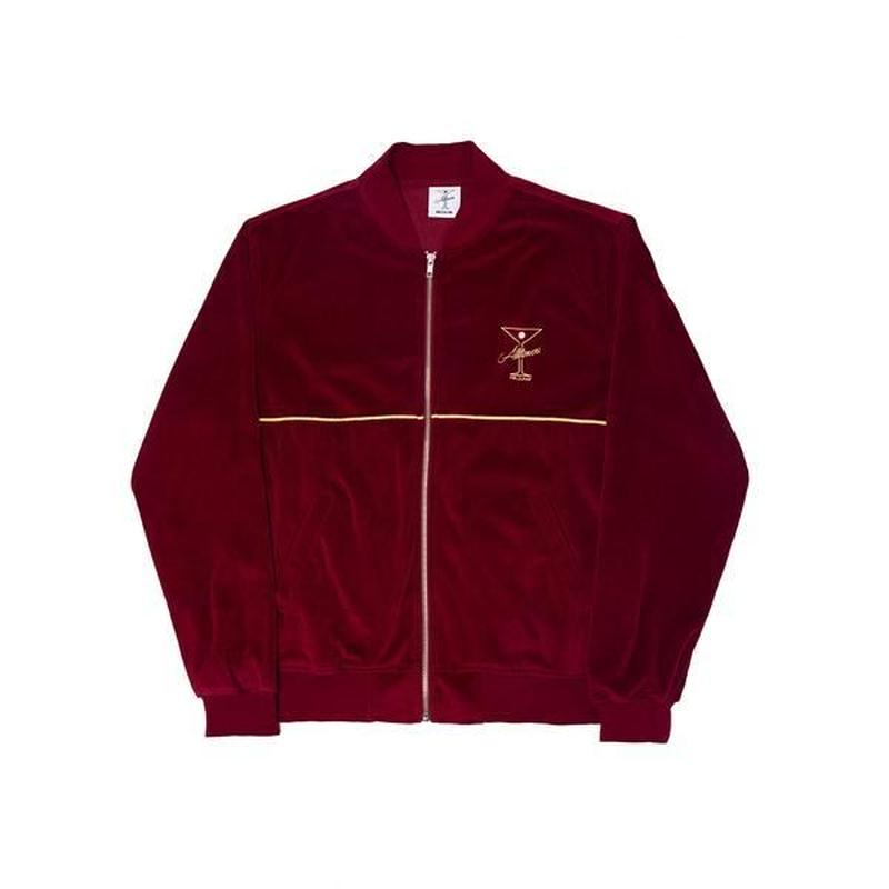 ALLTIMERS UNCLES VELOUR ZIP BURGUNDY
