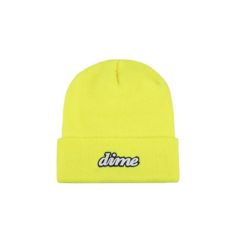 DIME CURSIVE BEANIE Safety Yellow