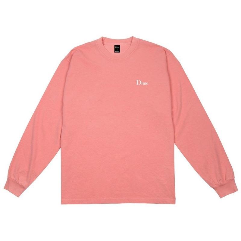 DIME CLASSIC LOGO L/S T-SHIRT  Pink