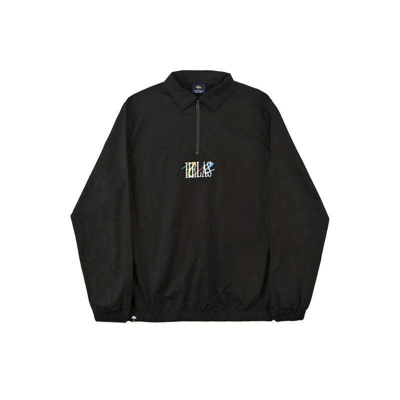 HELAS WAVY QUARTER ZIP BLACK