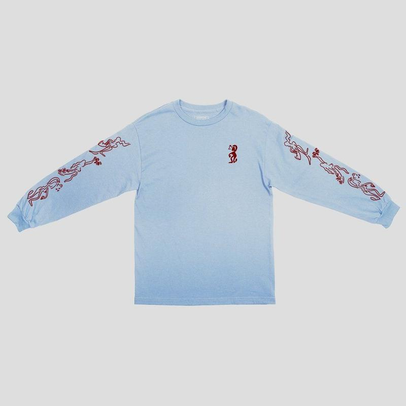 "PASS~PORT ""DRUNK AT YOUR WEDDING"" L/S TEE POWDER BLUE"