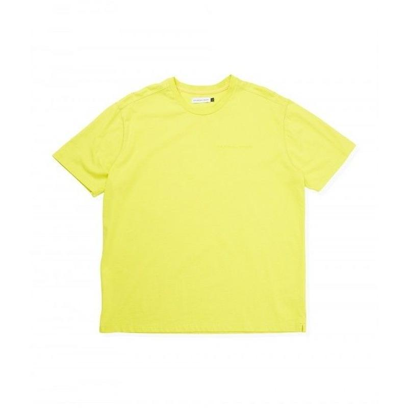 POP TRADINGING  LOGO OUTLINE T-SHIRT ELECTRIC YELLOW