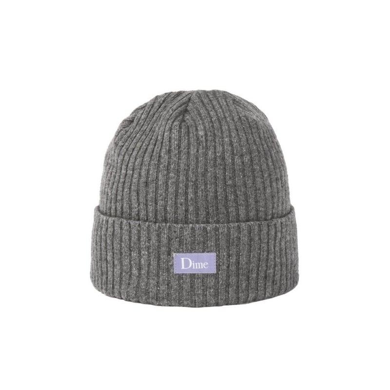 DIME RIBBED CASHMERE BEANIE Grey
