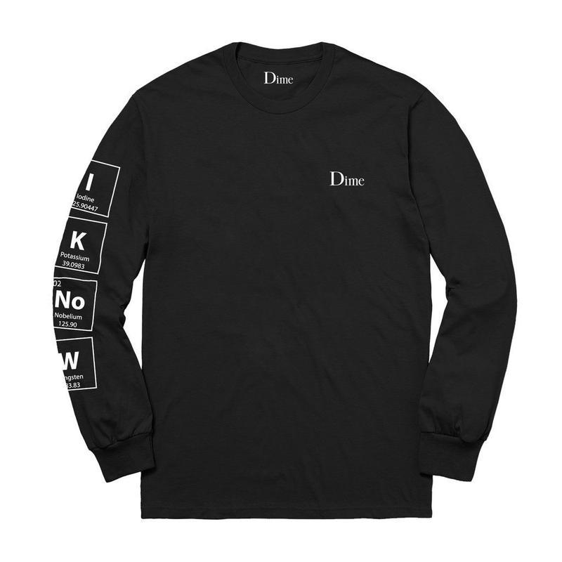 DIMEKNOWING L/S T-SHIRT Black