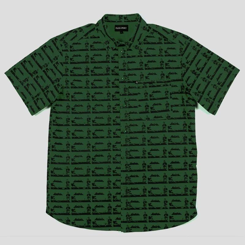 "PASS~PORT ""POOL"" S/S SHIRT FOREST GREEN"