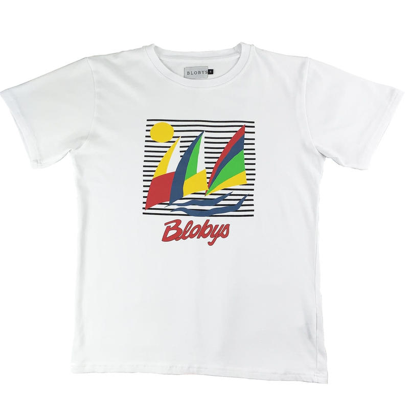 Blobys Boat T Shirt White