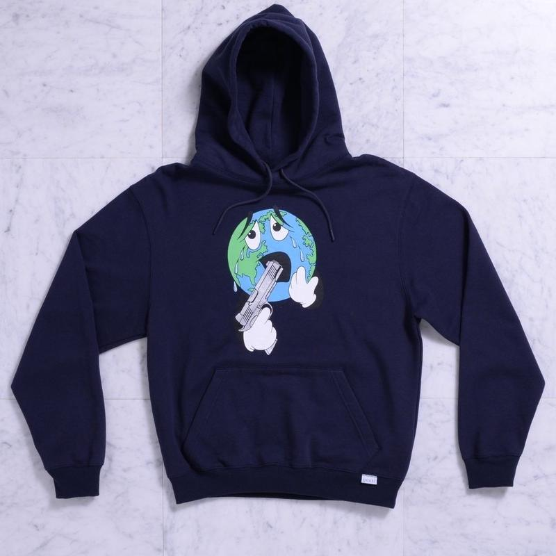 QUASI World Hood Sweat [Navy]