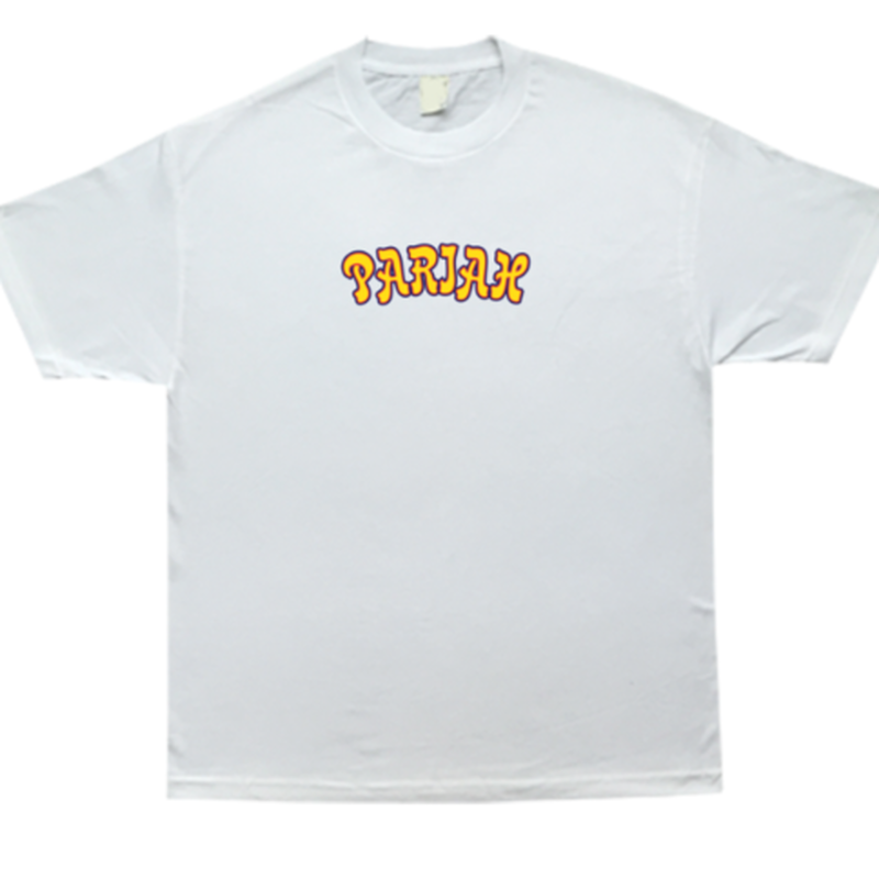 COME SUNDOWN  PARIAH EMBROIDERED S/S TEE WHITE