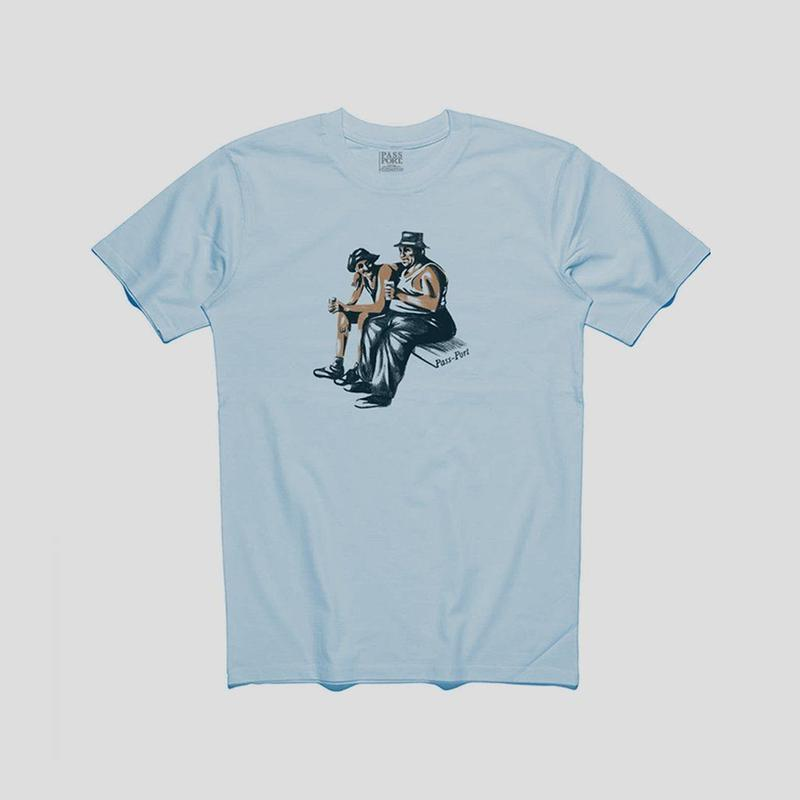 "PASS~PORT ""FRIENDLY"" TEE POWDER BLUE"