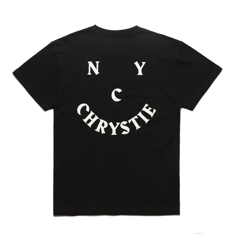 CHRYSTIE Smile Logo T-Shirts  Black