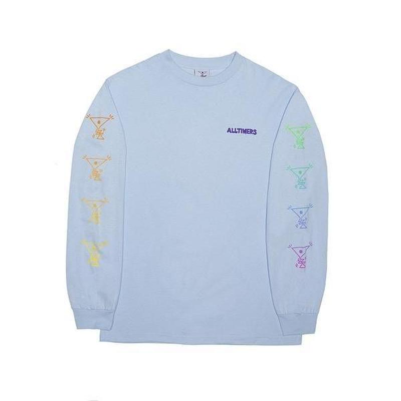 ALLTIMERS ACTION LONGSLEEVE TEE POWDER BLUE