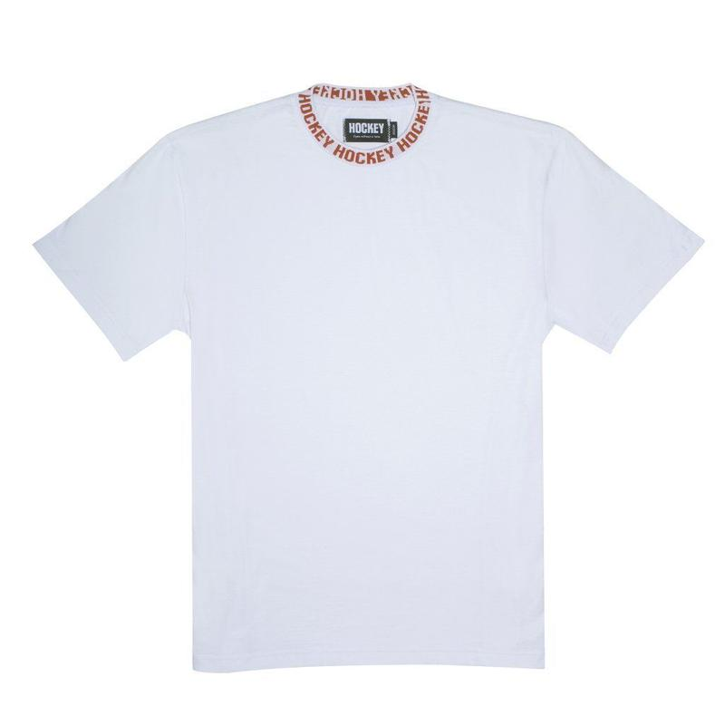 HOCKEY Knit Ringer Tee White/Red