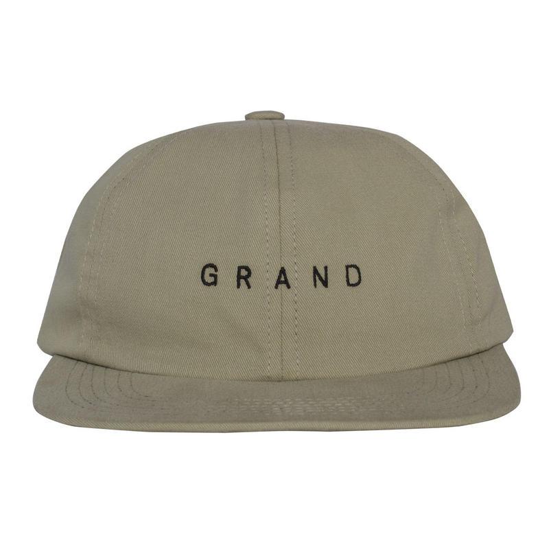 GRAND COLLECTION Small Logo Cap Cream