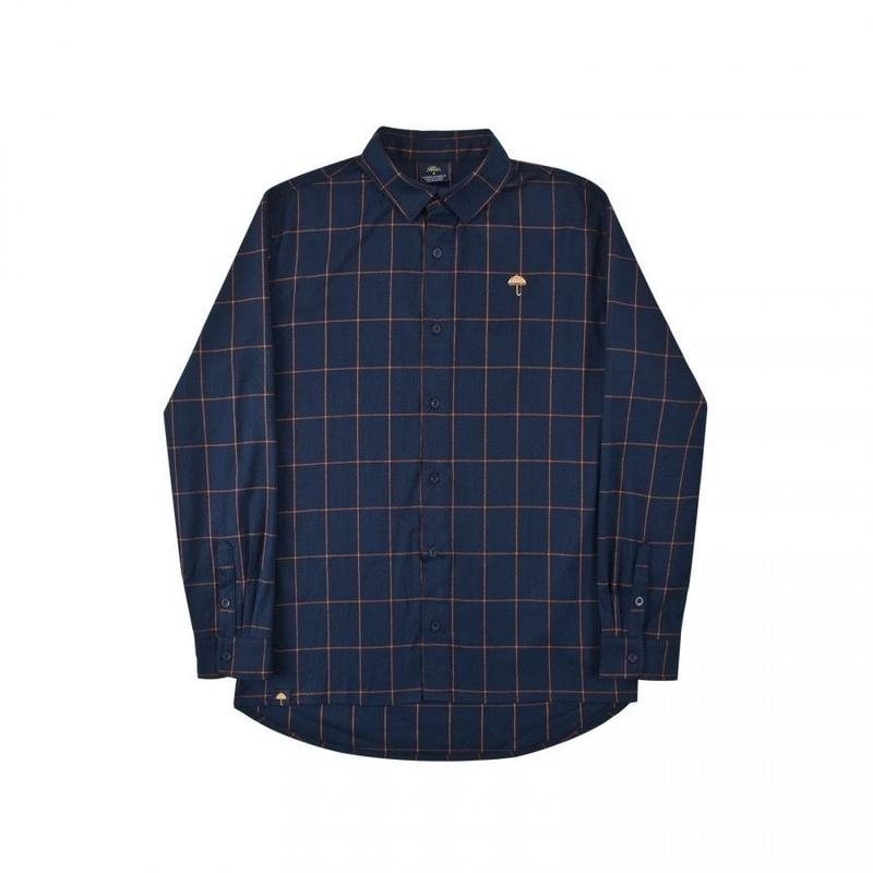 HELAS CLASSIC CARREAUX SHIRT NAVY