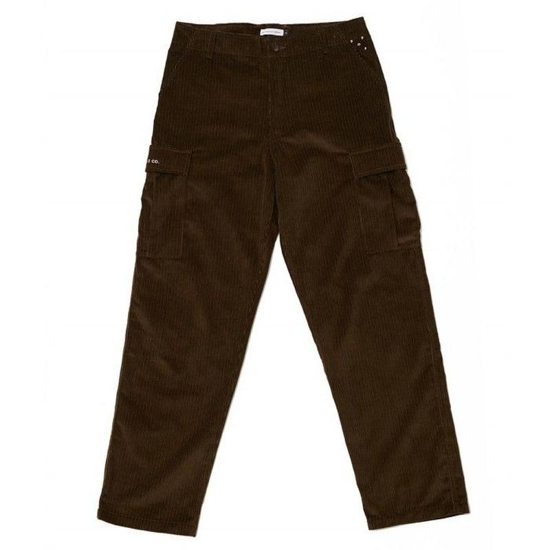 POP CORDUROY CARGO PANTS MOSS GREEN