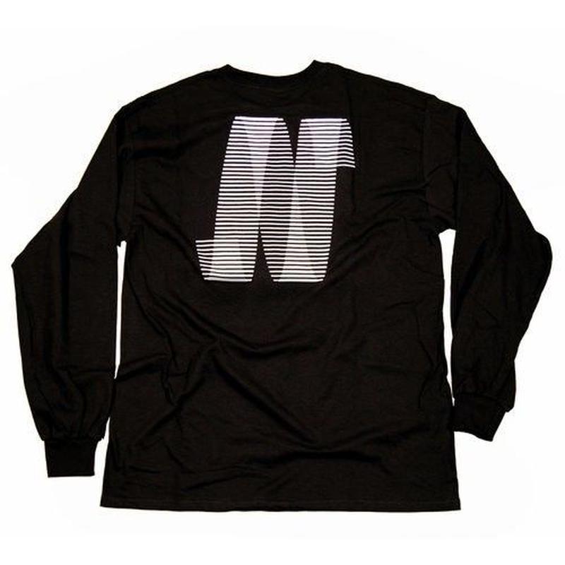 NORTH SKATE MAG North N Logo Long Sleeve T-Shirt - Black/White