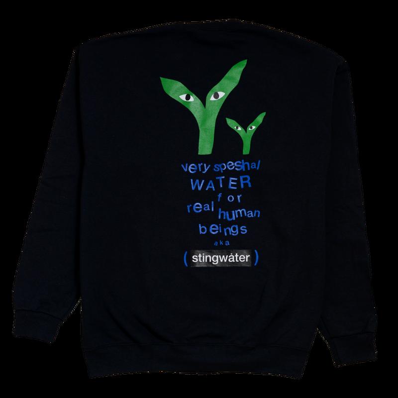 STINGWATER Groe Together Black Sweater