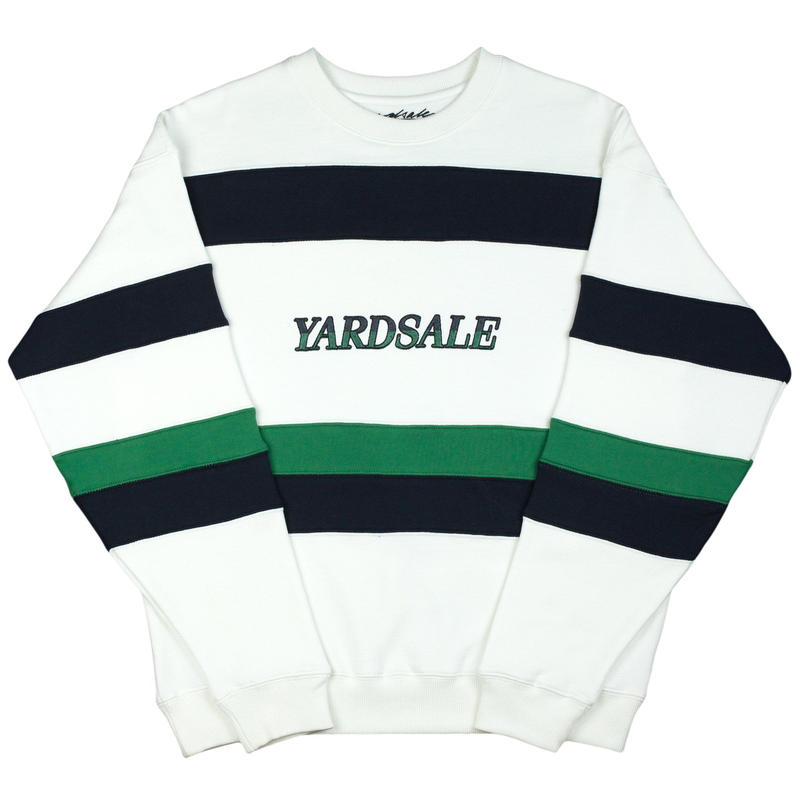 YARDSALE Valentine Sweat White/Navy/Green