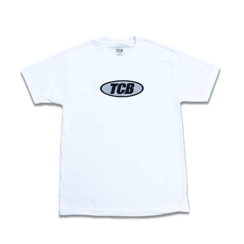 Tall Can Boyz GLITTER OVAL LOGO WHITE