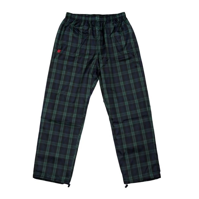 BRONZE PLAID TRACK PANTS