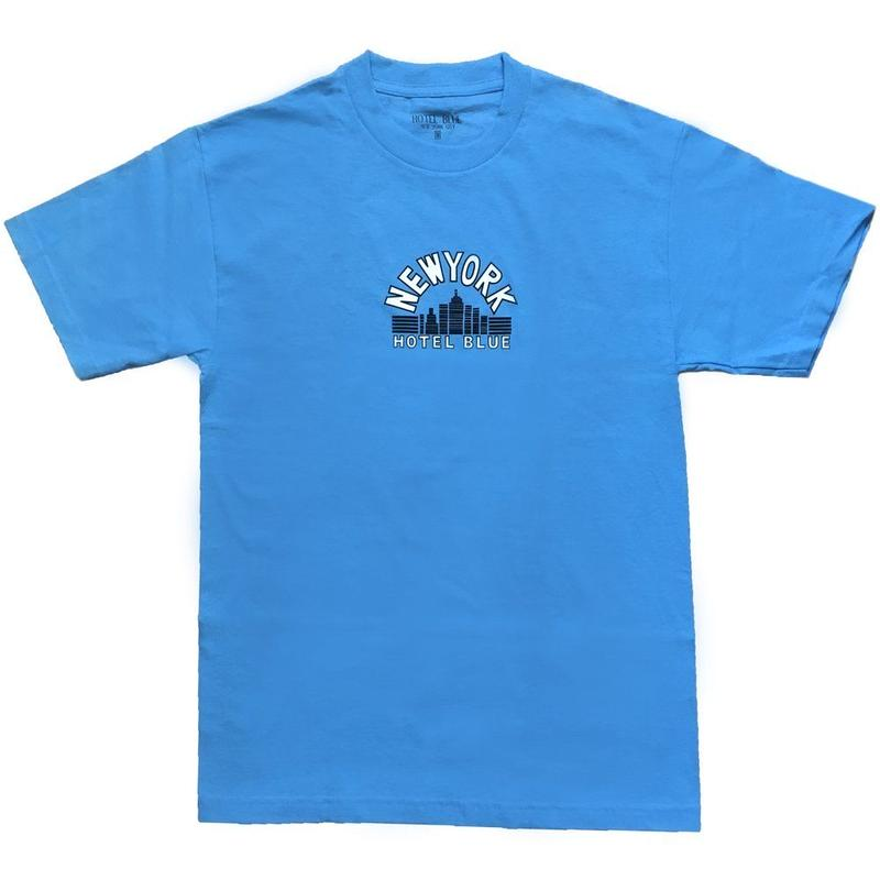 HOTEL BLUE SKYSCRAPER TEE CAROLINA BLUE