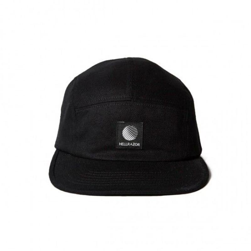 Hellrazor Logo Patch Twill Camp Cap - Black