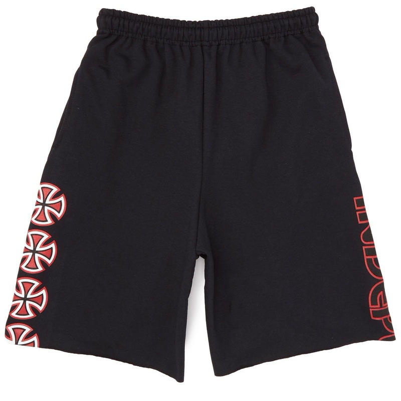 INDEPENDENT TRUCK CO. CHOP BAR SWEAT SHORTS BLACK