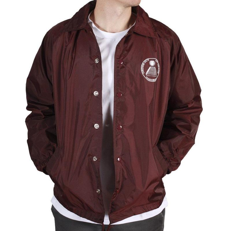 Theories Chaos Windbreaker Burgundy