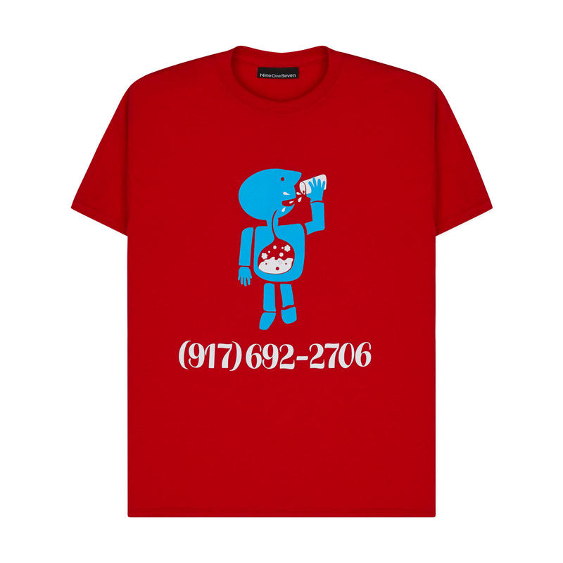 CALL ME 917  Aidan Mackey Pro Tee Red
